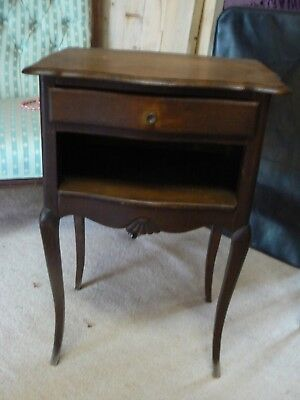 Lovely French  Oak Wood Bedside Lamp Table Stand  Dw/149/sp