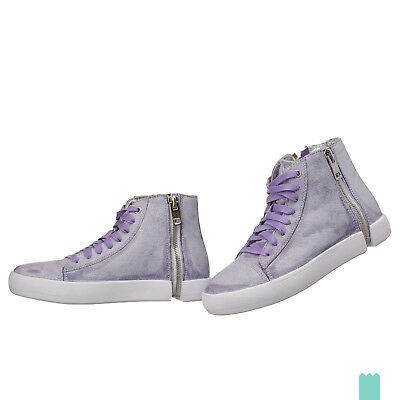 RRP €245 DIESEL 39 / UK 6 S-NENTISH W Treated Genuine Leather Lace Up Trainers