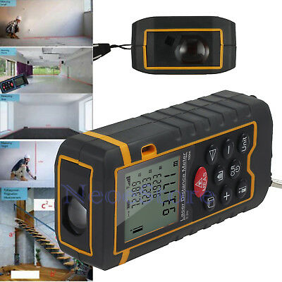 100M Digital Laser Distance Meter Measure Tape Range Finder Handheld Diastimeter