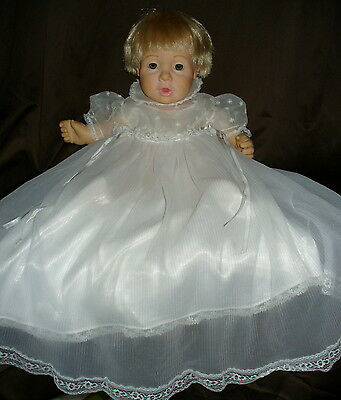 Vintage Christening Baptism Dress Crystal Pleated Slip Shoes Jacket Infant