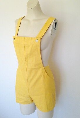 "1960s Deadstock NWOT original ""Square Rigger"" yellow Romper playsuit"
