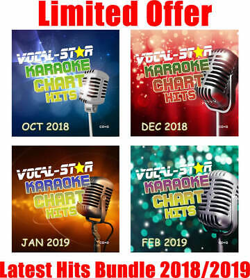 2018/2019 Karaoke Pop Chart Hits 108 Songs Cd+G Disc Set - Vocal-Star Bundle