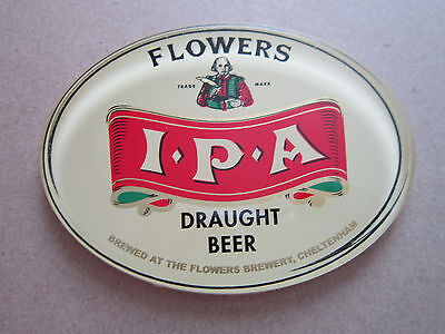 Flowers IPA Plastic Oval T Bar Pump Badge
