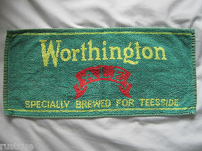 Worthington Ale Specially Brewed For Teesside Used Bar Towel