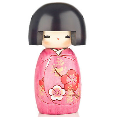 Pink Blossom Authentic Wooden Kokeshi Doll