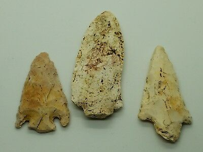 Genuine Native American Indian Arrow Heads From Florida Area
