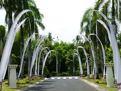 BALI FLAGS 4m METER FOR WEDDING GARDEN PARTY 4 METRE MANY COLOURS