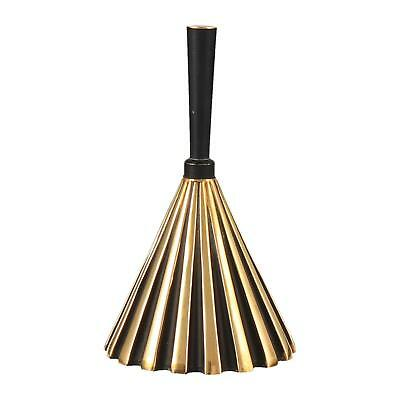 A modernist brass & black bell Mid century Deco style Reception bell