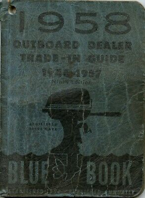 Vintage 1958 Official Outboard Motor Trade-In Guide Blue Book