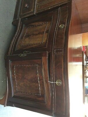 Mahogany Serpentine Fronted Cupboard Sideboard
