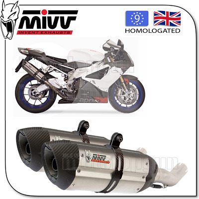 Mivv Approved Exhaust Suono Steel Carbon Cup Aprilia Rsv 1000 2006 06 2007 07