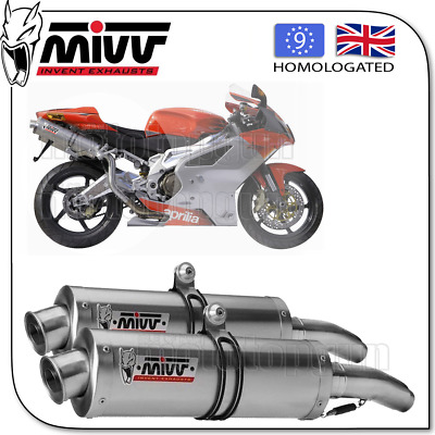 Mivv Approved Exhaust A Oval Steel Aprilia Rsv 1000 2007 07 2008 08