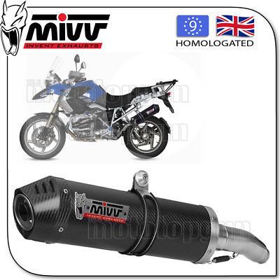 Mivv Approved Exhaust Kat Oval Carbon Carbon Cup Bmw R 1200 Gs 2004 04 2005 05