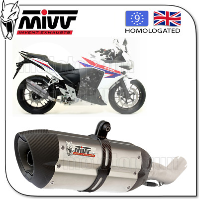 Mivv Approved Exhaust Kat Suono Steel Carbon Cup Honda Cbr 500 R 2013 13 2014 14
