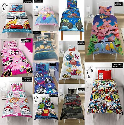 Children Disney Marvel Fireman Printed Reversible Rotary Single Duvet Bed Set
