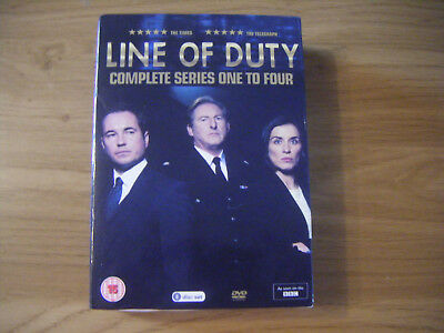 Line of Duty Series 1-4 DVD - Region 2 UK