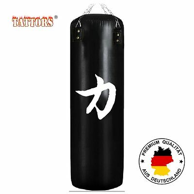 Leather Sandbag Punching Bag 120x35 Steel chain Punch with Bracket GLOVES