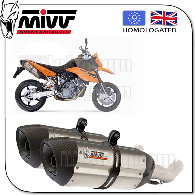 Mivv Approved Exhaust Suono Steel Carbon Cup Ktm 990 Supermoto R 2009 09 2010 10