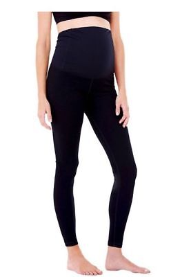 NWT INGRID AND ISABEL BE Maternity BLACK Workout Capris/CROPPED Sz. XS