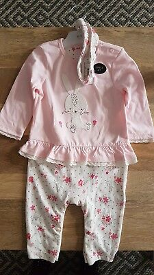 Blue Zoo outfit baby girl 6-9 months romper headband BNWT