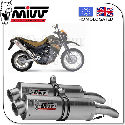 Mivv Approved Exhaust Oval Steel Yamaha Xt 660 X / R 2007 07 2008 08 2009 09