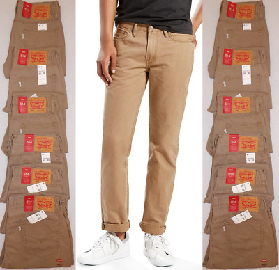 Levi's 514 Men's Straight Padox Canvas Pants Jeans Chino 00514-0692