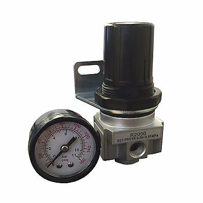 "R20 Air Compressor Regulator, THB R202NG, 1/4"" NPT Mini Regulator, 150 PSI"
