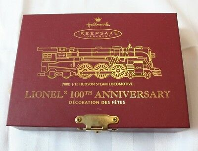 Hallmark Ornament 700E J-1E Hudson Steam Locomotive Lionel 100th Anniversary