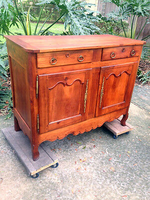 Antique French Louis Xv Country French Cabinet Solid Cherry Circa 1770!