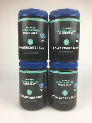 WAECO DOMETIC POWERCARE Tabs +25% More 4x 20=80 Piece Thetford WC Additive