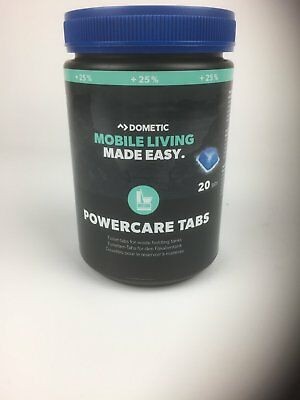 WAECO DOMETIC POWERCARE Tabs +25% More 1X 20 Piece Thetford WC Additive