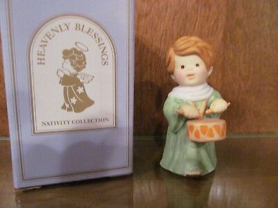 Avon Heavenly  Nativity Collection Drummer Boy Pre-Owned In Box