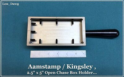 "Aamstamp / Kingsley Machine (2.5x5"" Open Chase Holder) Hot Foil Stamping Machine"