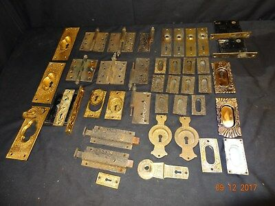 Nice Large Lot Antique Victorian Door Hardware 1800's Must SEE