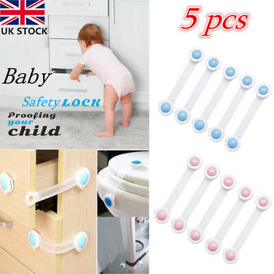 5pcs Toddler Baby Kids Child Safety Lock For Draw Cupboard Cabinet Fridge Door