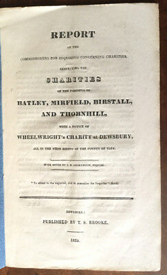 1829 - Charities of the Parishes of Batley, Mirfield, Birstall, and Thornhill,