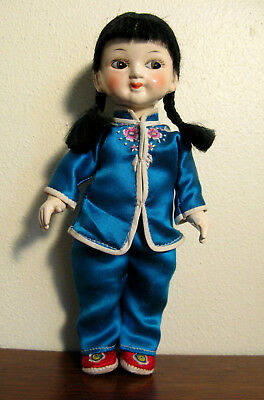 "Vintage Chinese Doll 8 3/4"" Composition ?"