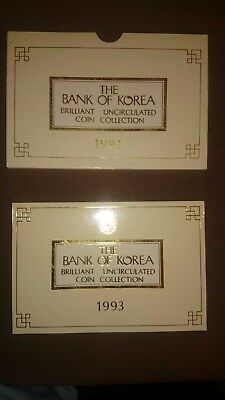 The Bank of Korea Brilliant Uncirculated Coin Collection 1993