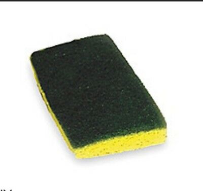 "TOUGH GUY Nylon Scrubber Sponge,6"" L,3-1/2"" W,PK20, 2NTH3, Green, Yellow"