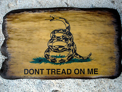 Picture Of Revolutionary War Flag Mounted On Old Barn Wood.