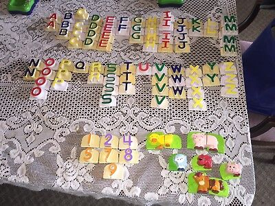 LEAP FROG Fridge Phonics Alphabet Uppercase Letters Numbers Animals 100+ pc Lot