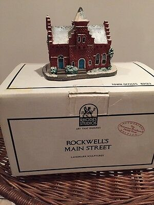 #82123 ROCKWELL MAIN SYREET TOWN OFFICES structure 1990 Rhodes Studio NIB