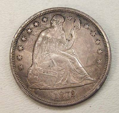 1872 Seated Liberty Silver Dollar VF-XF