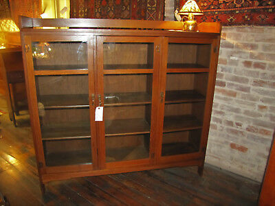 Great Antique Limbert 3 Door Bookcase  w4041  (Stickley Era)