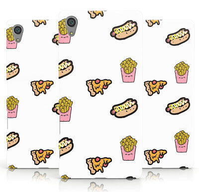 Dyefor Fries Pizza & Hot Dog Phone Case Cover For Sony Xperia