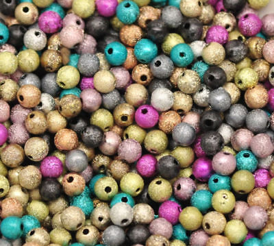 1000PCs Mixed Stardust Acrylic Spacer Beads 4mm A001