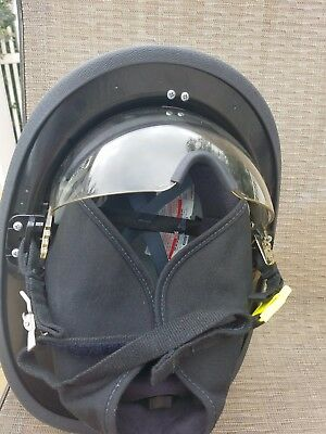 New Cairns Traditional Structure Fire Fighting Helmet Defender Eye Protection
