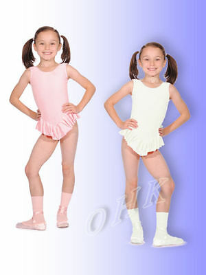2014# Leotard with Ruffle Sleeveless Cotton Gr. 98 to 152