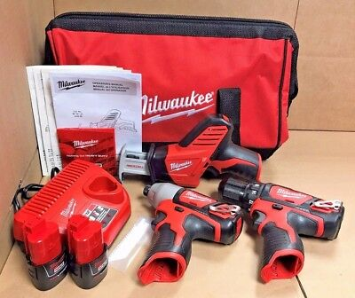 Milwaukee M12 3 Tool Combo Kit - Model 2498-23 BRAND NEW IN BOX - SUPER SALE