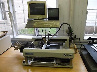 Manncorp ECM97 Pick and Place w/ Dual Heads, Feeders, PC & Software